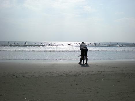 海辺のお散歩の写真